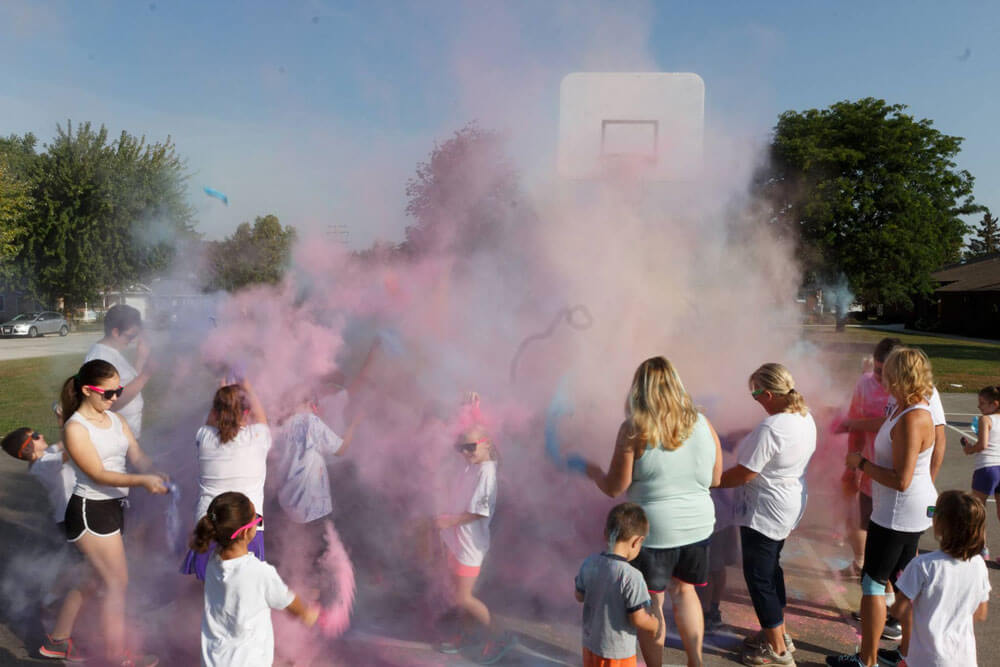 School participating in The Color Run