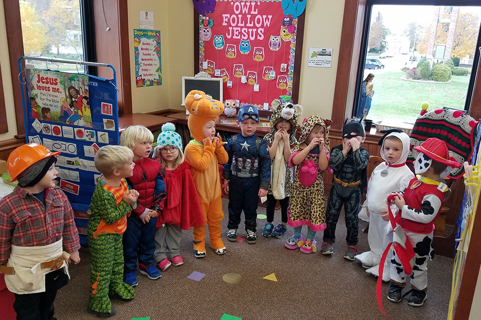 Early Childhood education Halloween dress up day