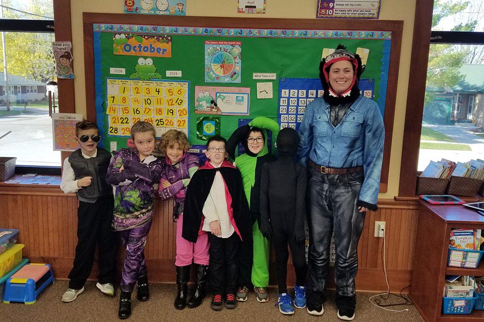 Halloween costumes - 2nd grade class