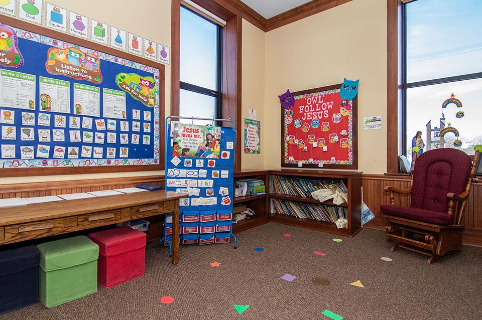 Early child hood classroom reading area